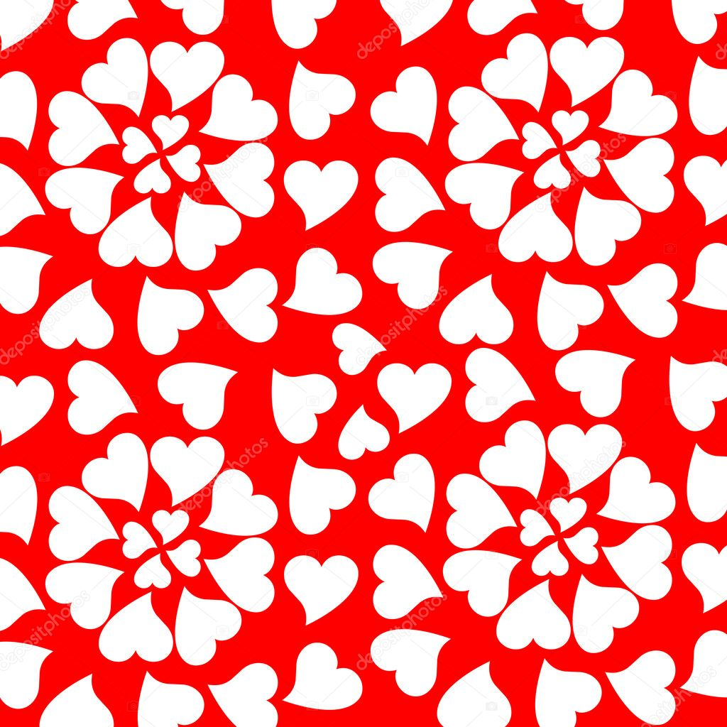 Seamless background with romantic valentine hearts  Grafika wektorowa #5308911