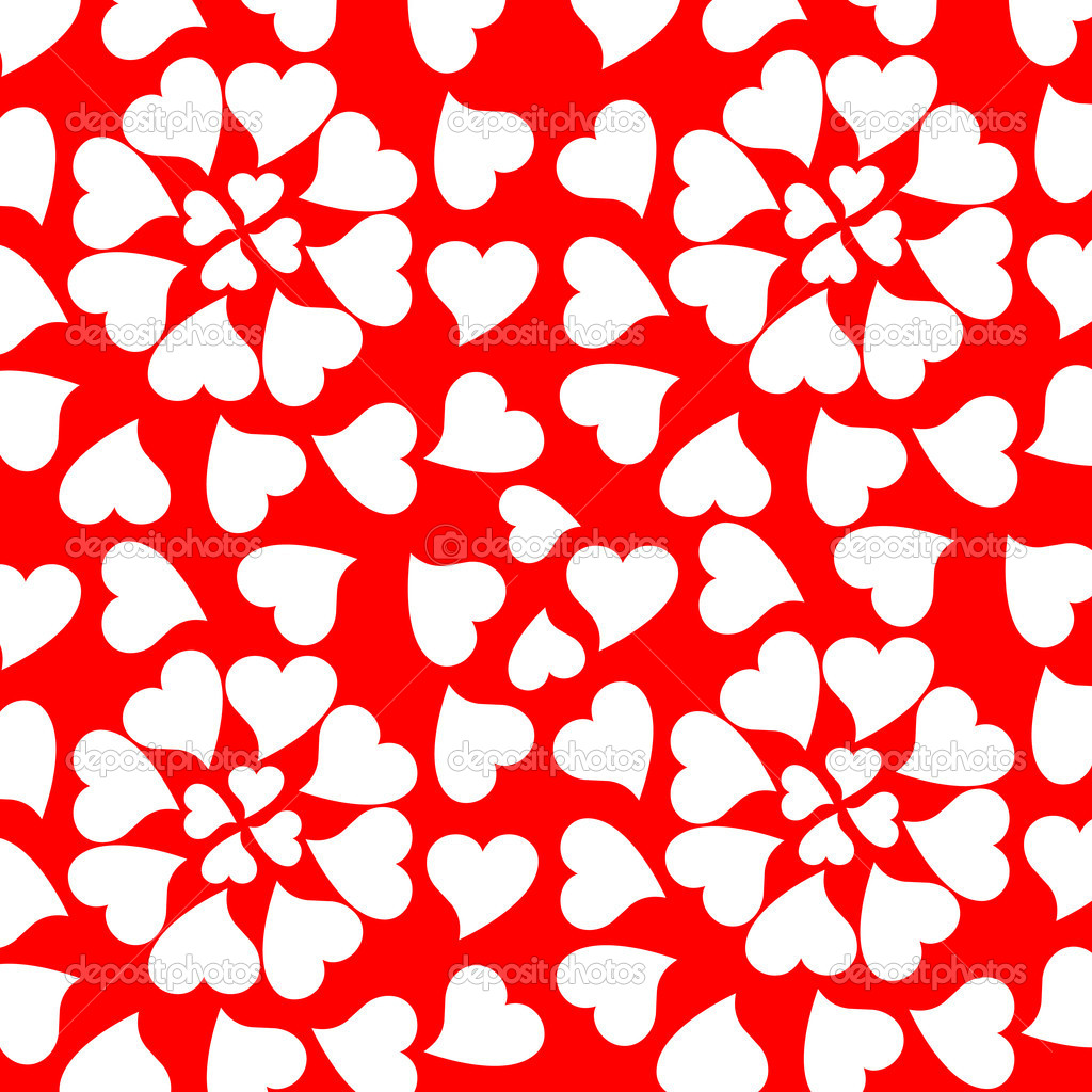 Seamless background with romantic valentine hearts — ベクター素材ストック #5308911