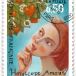 Zodiac tree, stamp - Foto Stock