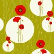 Royalty-Free Stock Immagine Vettoriale: Abstract red poppy seamless pattern background