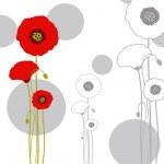 abstraktní tapeta červeného máku — Stock vektor