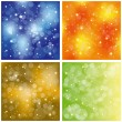 Set of sparkling colorful stardust wallpaper - Stock Vector