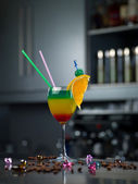 Glass with a cocktail — Stock Photo
