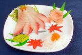 Pescados y caviar rojo — Foto de Stock