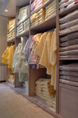 Interior of a cupboard for towels — Stock Photo