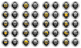 Set Buttons Web — Stock Vector