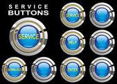 Set service buttons — Stock Vector