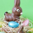 Colorful wrapped chocolate Easter eggs - Zdjcie stockowe