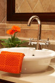 Beautiful sink in a bathroom — Stock Photo