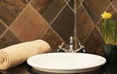 современный интерьер ванной — Стоковое фото