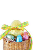 Easter chocolate eggs — Stock Photo