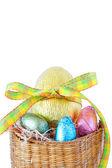 Velikonoční čokoládové vajíčka — Stock fotografie