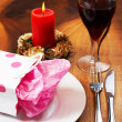 Royalty-Free Stock Photo: Table setting with a gift bag on plate