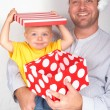 Baby boy with his father for Christmas — Stock Photo #5161650