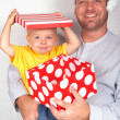 Baby boy with his father for Christmas — Stock Photo #5161699