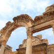 Temple of Hadrian in ancient city of Ephesus - Stock Photo