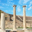 Ruins of columns in Asklepion in ancient city of Bergama — Stock Photo #5162120