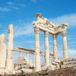 Trajan temple in Pergamon Turkey - Stock Photo
