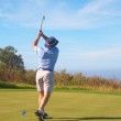 Senior golfer playing golf — Stock Photo #5162180