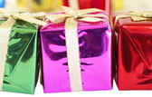 Cadeaux de noël coloré — Photo