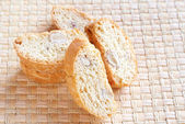 Stack of almond biscotti — Stock Photo