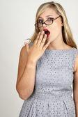 Retrato de mujer rubia hermosa — Foto de Stock