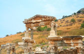 Fountain of Trajan in ancient city of Ephesus — Stock Photo