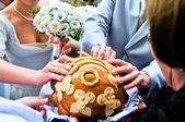 Wedding loaf — Stock Photo