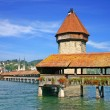Chapel Bridge in Lucerne Switzerland — Stock Photo