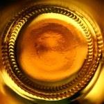 Abstract beer bottle bottom — Stock Photo
