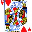 Foto de Stock  : King of hearts playing card