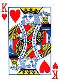 Kung av hjärtan spelkort — Stockfoto