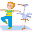 Child's gymnastics — Stock Photo