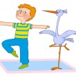 Child's gymnastics - Stock Photo