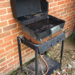 Rusty barbecue - Stock Photo