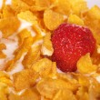Cornflakes and Strawberries — Stock Photo