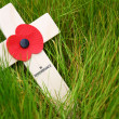 Remembrance cross — Stock Photo