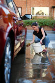 Washing the car — Stock Photo