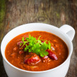 A cup of chili con carne — Stock Photo