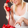 Royalty-Free Stock Photo: Talking on the phone
