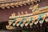 Chinese ceramic roof — Stock Photo