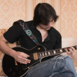Man  playing the guitar — Stock Photo