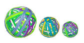 Rubber band balls — Stock Photo