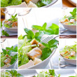 Salad collage — Stock Photo #5086010