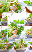 Salad collage — Stock Photo