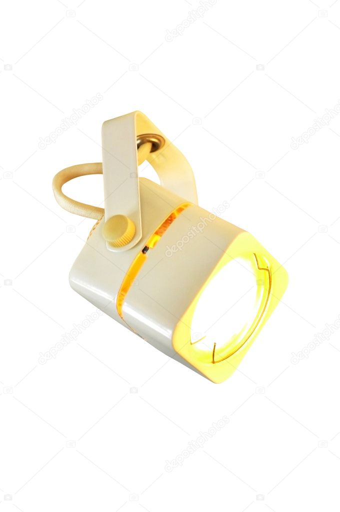 An incandescent lamp, projector, isolated on the white background  Stock Photo #5171012