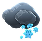 Cloud with heavy snow. — Stock Photo