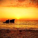 Sunset on the beach — Stock Photo #5252693