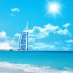 Hotel langs de strand — Stockfoto