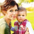 Mother and baby portrait — Stock Photo #5294290